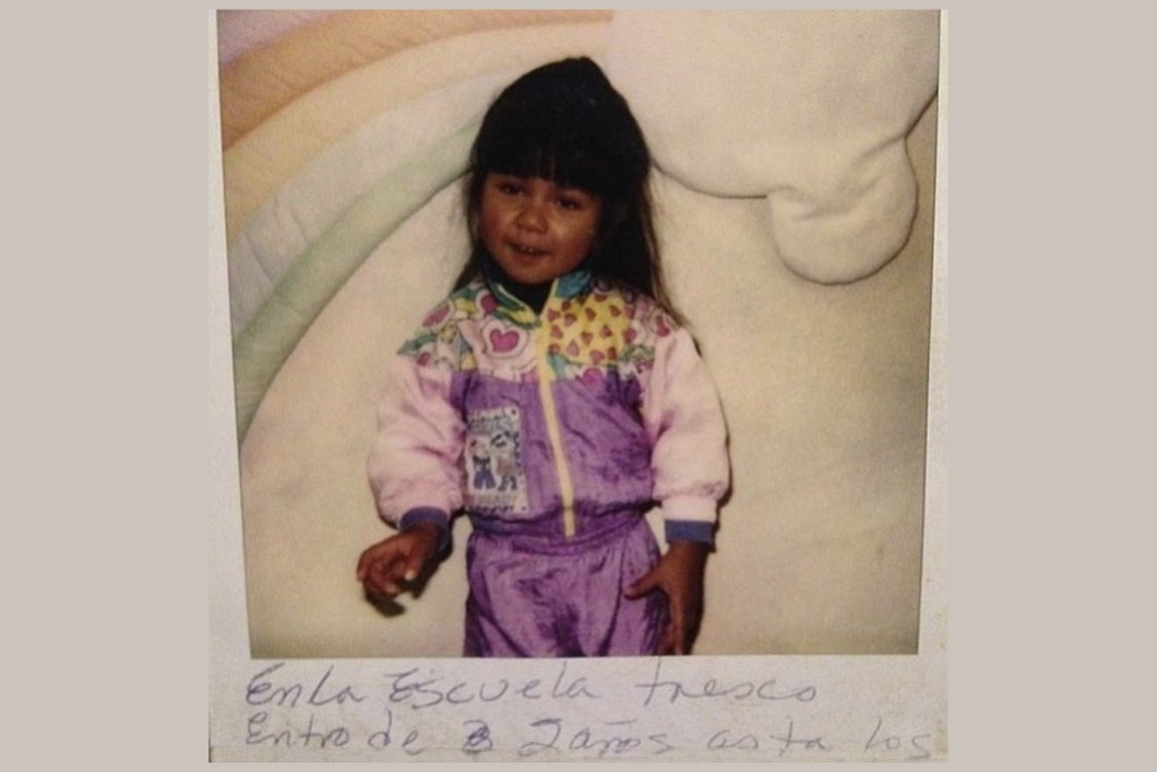 Daisy R. López as a child at Tresco TOTS Early Intervention program