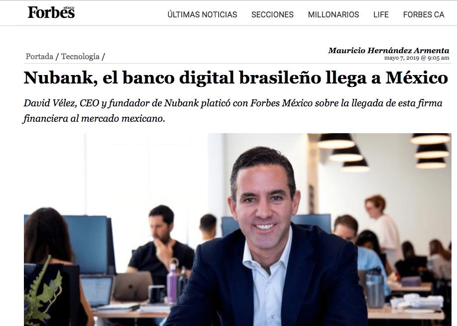 Forbes México: llegada de Nu