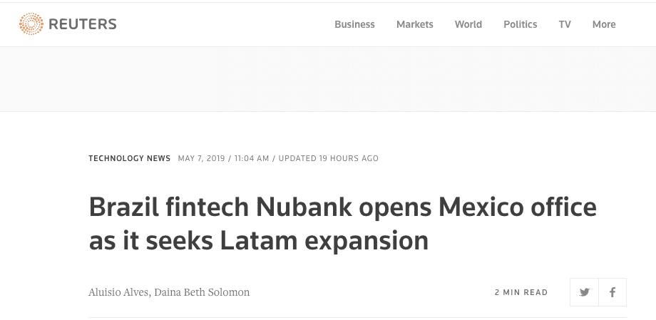 Reuters Nubank Mexico