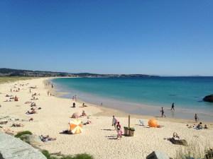 Playas de Sanxenxo en las Rías Baixas - Galicia