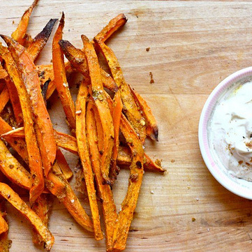 Sweet Potato Fries with Turmeric // Joy the Baker
