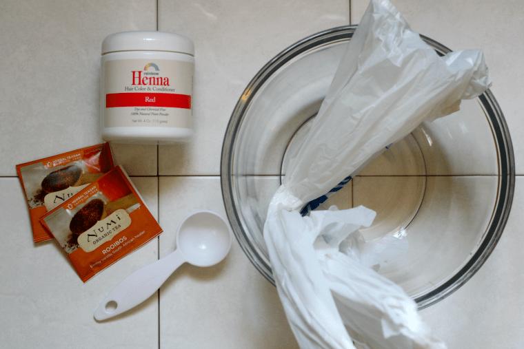 Henna and Tea Hair Dyeing
