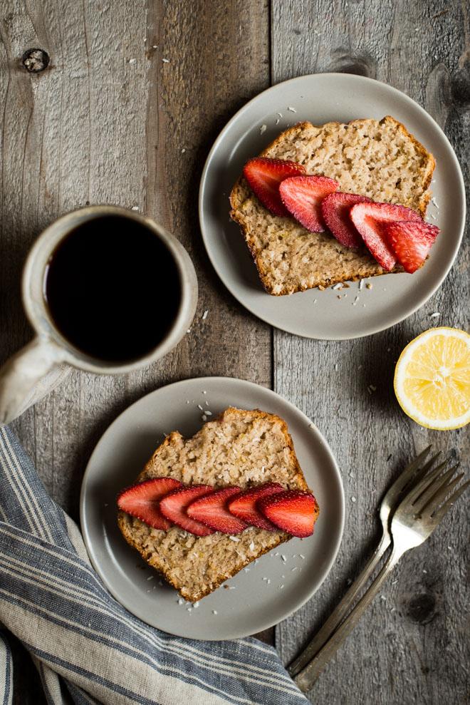 Gluten-Free Coconut Bread with Lemon | Healthy Nibbles & Bits