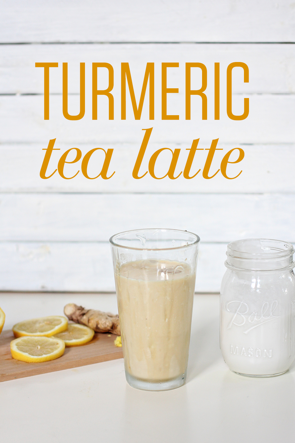 Iced Turmeric Tea Latte