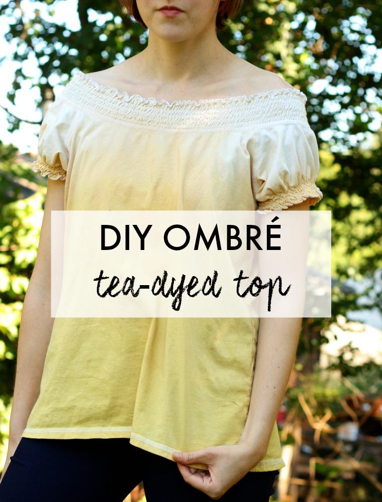 DIY Ombre Tea Dye