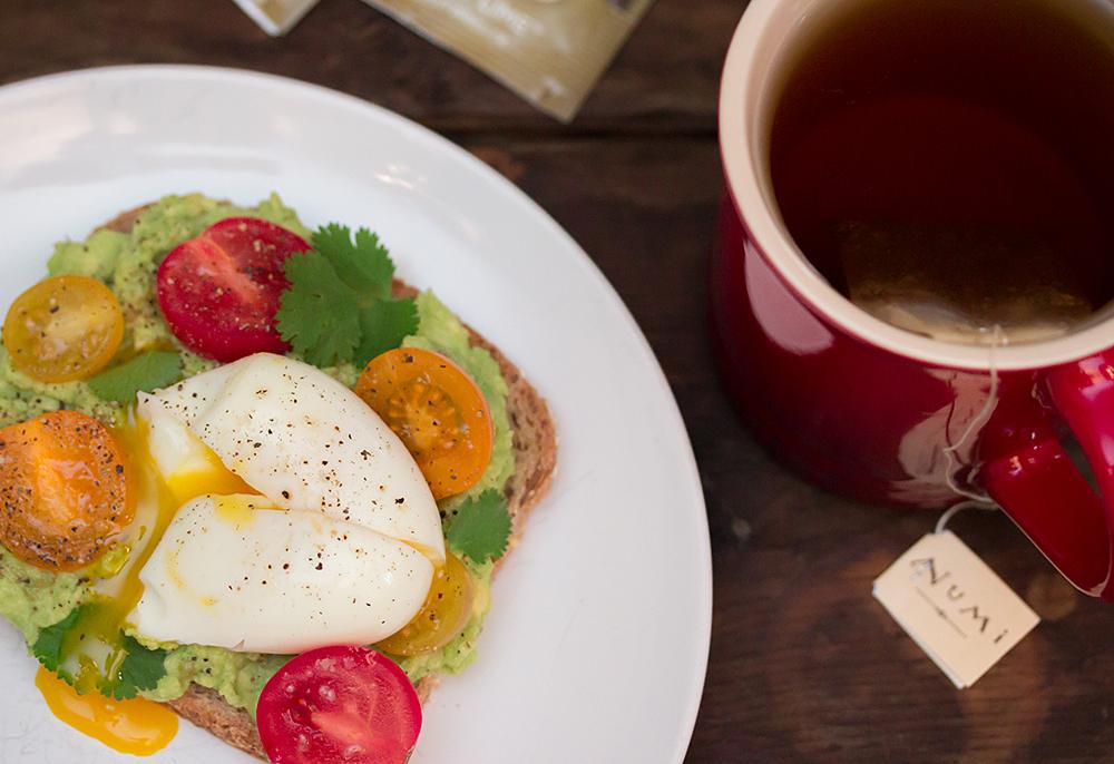 Tea and Toast Pairings - Avocado Breakfast Toast