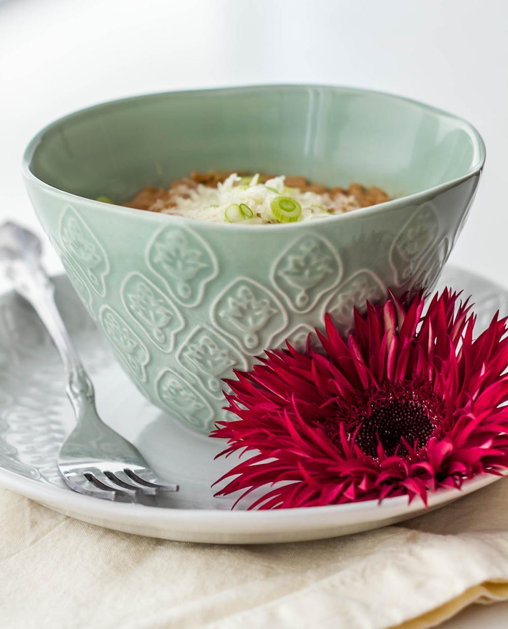 Pu-erh Tea and Gruyere Risotto