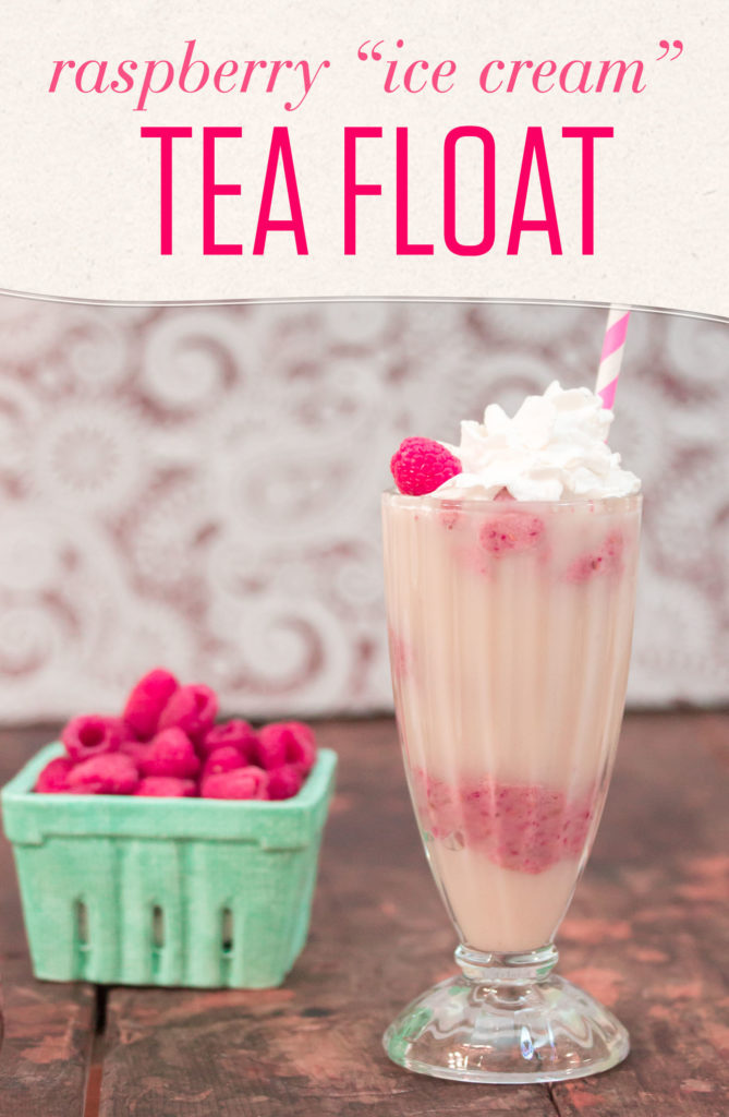 Raspberry Tea Float