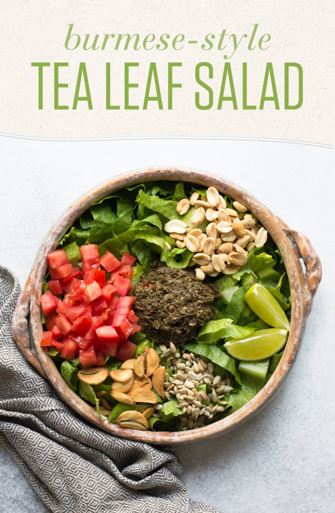 Burmese style tea leaf salad vegan numi tea garden blog one of my favorite things to order at a burmese restaurant is the fermented tea leaf salad its fresh tangy and crunchythe right kind of appetizer to forumfinder Image collections