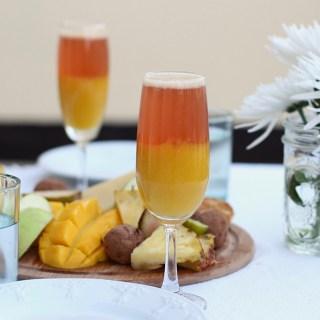 Summer Sunset Mango Mimosa