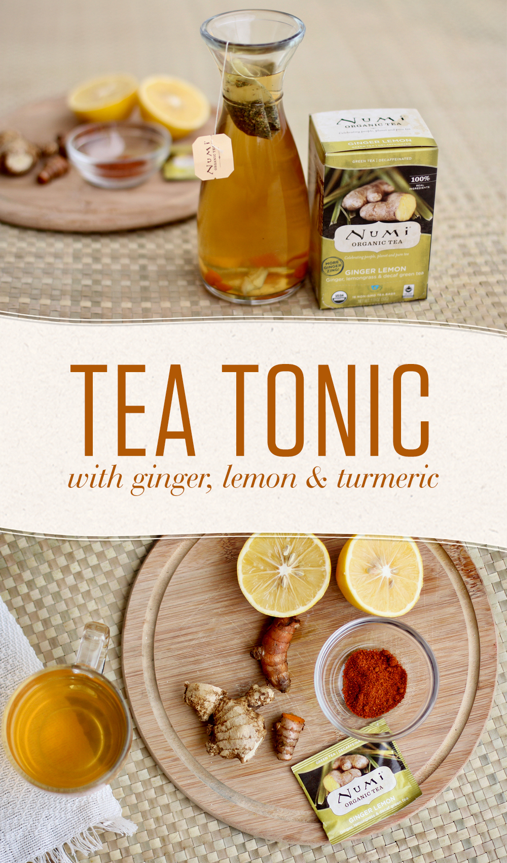 Give yourself a detoxifying boost with a tea tonic that infuses Ginger Lemon Tea with anti-inflammatory goodness and a cayenne kick.