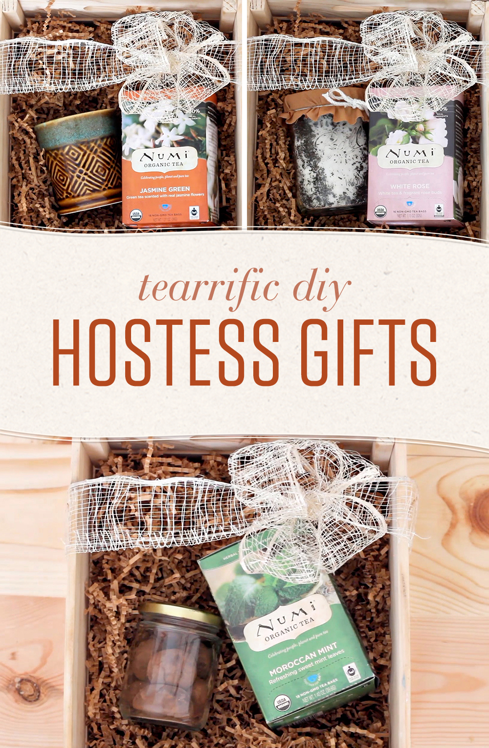 The holiday season means a plethora of parties and events. Show appreciation for the hospitality of your host or hostess with these tea-themed DIY gifts!