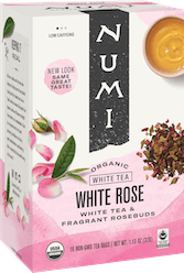 Numi Organic white rose tea