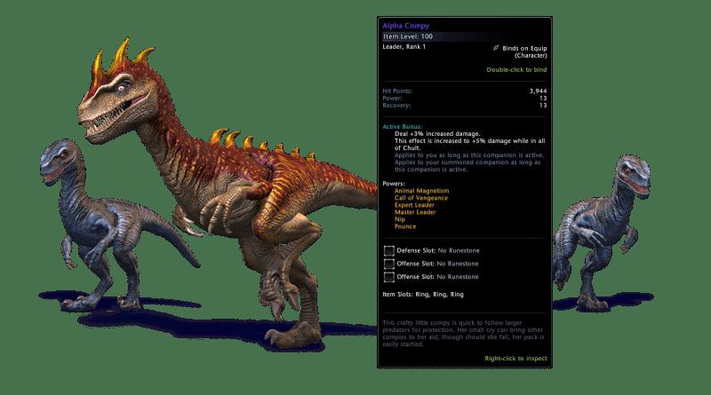 Neverwinter Companion Gear Guide for Mod 14