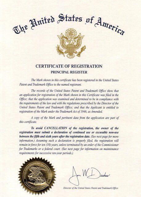 USPTO Certificate Next Generation DentalnbspNext Generation Dental October