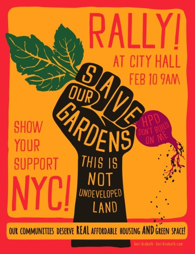 Rally to Save Gardens Poster2