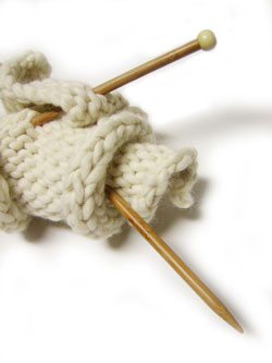 Knitting as art, but not as Granny knew it