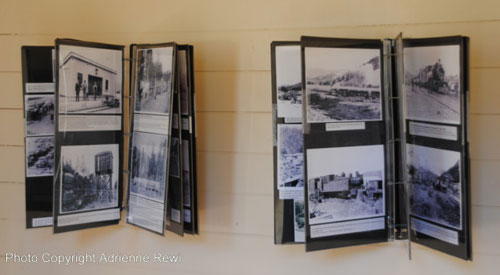 Regional history unfolds as you turn the large 'book' pages on the museum wall