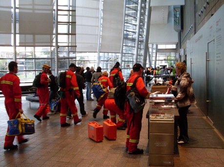 Civil Defence settles in to the Gallery. Photo courtesy of Christchurch Art Gallery