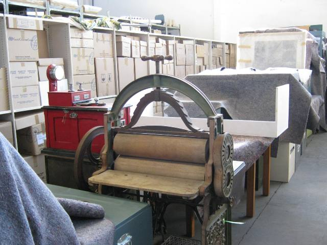 Part of the Kaiapoi Museum's collection in storage – 23 September