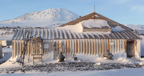 The Terra Nova hut at Cape Evans as it is today. It was erected by Scott and his British Antarctic Expedition team in 1911. © New Zealand Antarctic Heritage Trust
