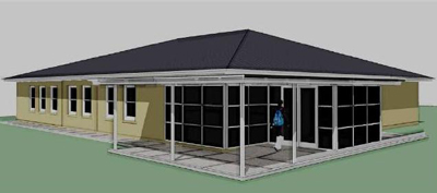 Artist's impression of the new Waikouaiti Coast Heritage Centre. Image courtesy of Waikouaiti Coast Heritage Centre.