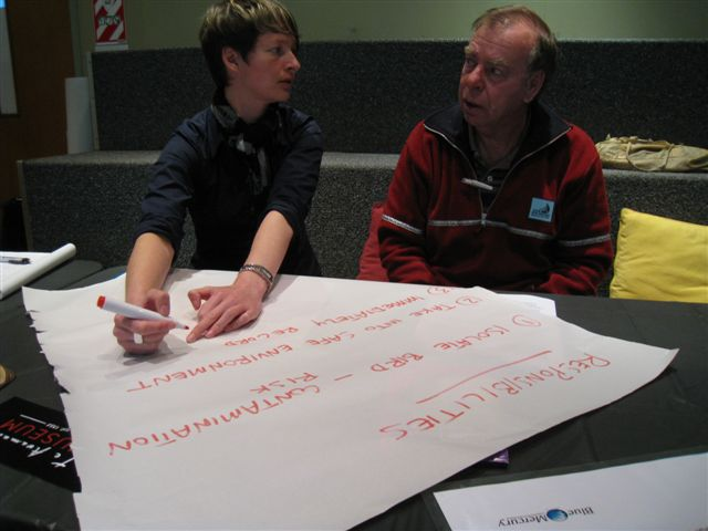 Group work at 'Ticking the boxes', Te Awamutu Museum. Photo by Emma Philpott.