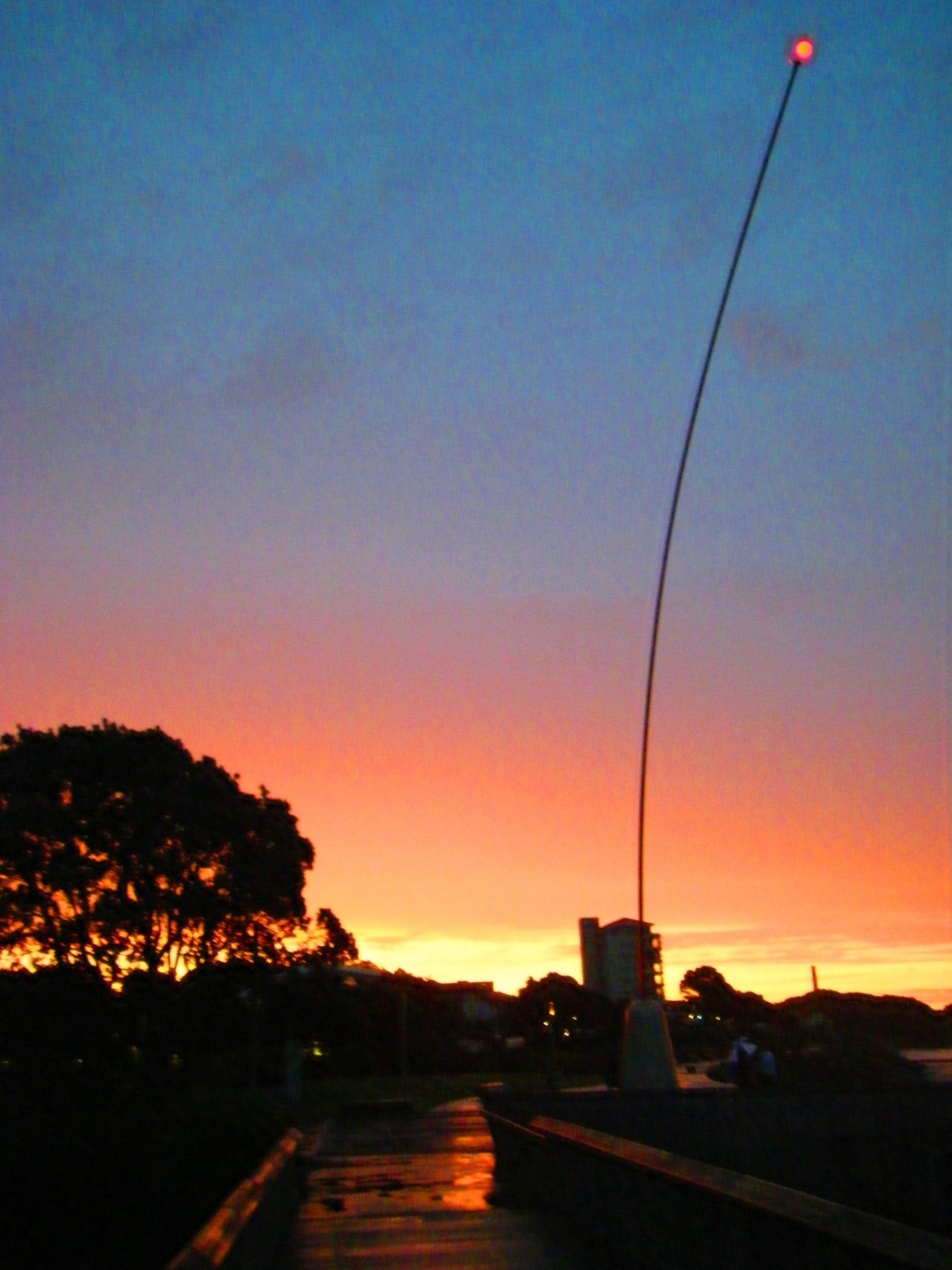 Sunset at the Len Lye wind wand, New Plymouth.
