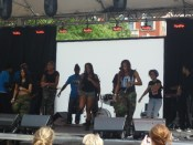 AS220 Youth's resident group ZuKrewe performing on the main stage at Foo Fest.