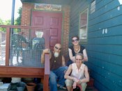 Bert, Susan and I on the steps of their house.