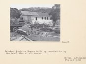 Original Dominion Museum building revealed during the demolition of the old museum, 3 May 1939, Wellington, by John Tenison Salmon. Te Papa