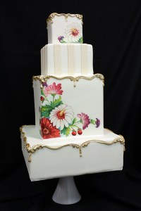 Vintage Painted Plate Inspired Wedding Cake | Blog ...