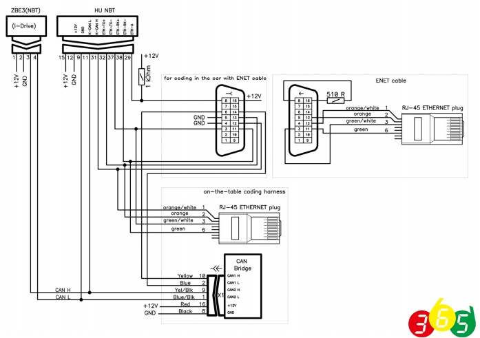 obd 2 cable schematic