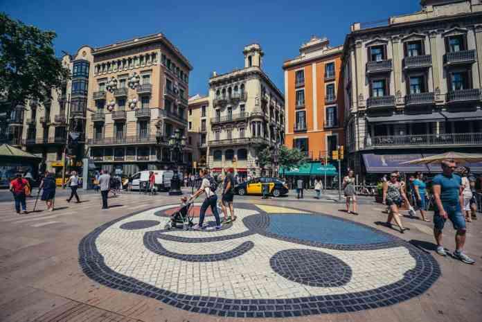 Las Ramblas (La Rambla Caddesi) Barselona
