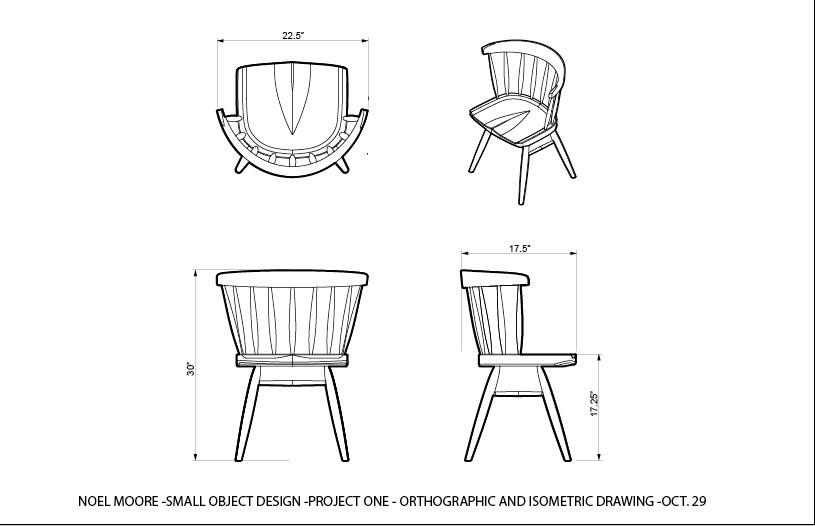 Noel Moore – Nakashima Straight Back Chair