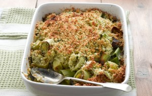 Image of Leek and Cheese Crumble
