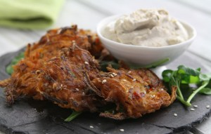 Image of the carrot fritters