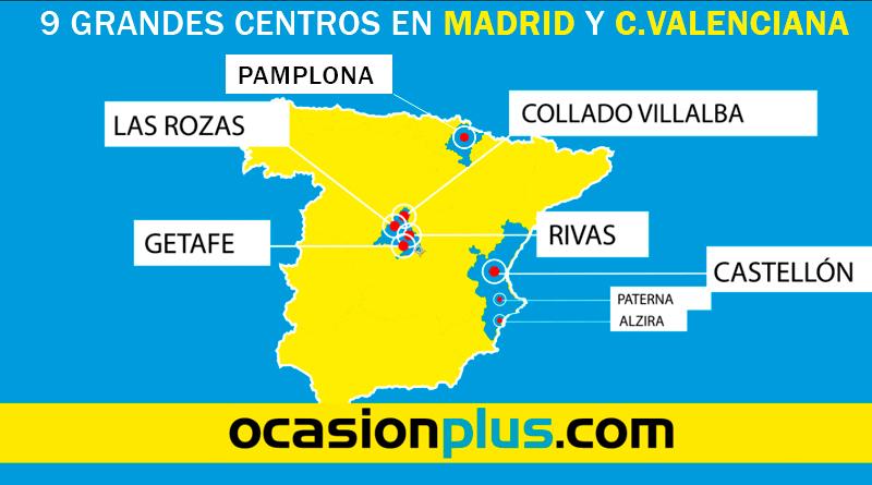 Puedes encontrarnos en 9 grandes centros en Madrid, Valencia y Navarra.