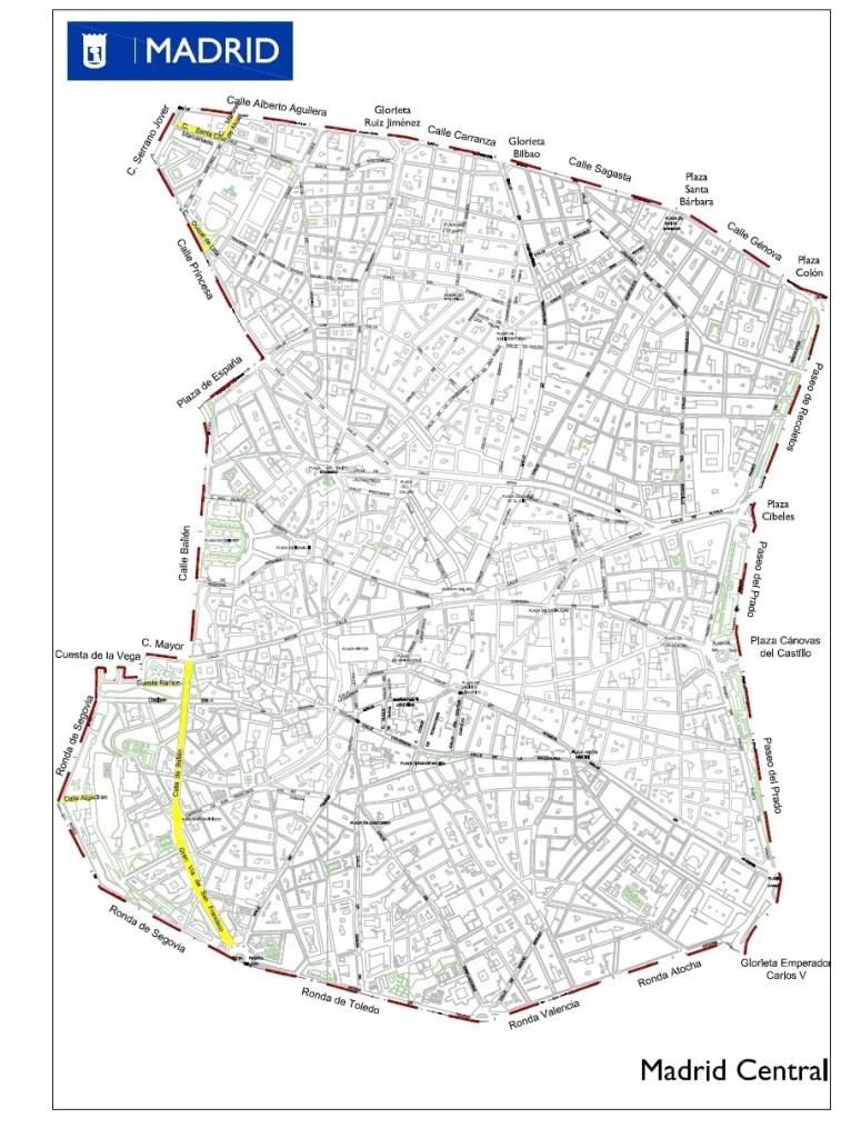 Este es el perímetro de Madrid Central