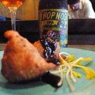 Duck Samosas and a Uinta Hop Nosh