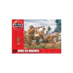 Airfix - Set de Figuras marines U.S. WWII. kit de plástico listo para ensamblar y decorar. Escala 1:72, Ref: A01716.