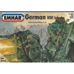 Emhar - Figuras de Infantería Alemana WWI. kit de plástico listo para ensamblar y decorar. Escala 1:35. Ref: EM3503.