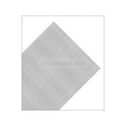 Maquett - Plancha de rejilla de PVC en cuadro, color gris. Dimensiones 185 x 290 mm, 0.32 mm.,Ref: 611-01