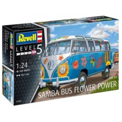Revell - VW T1 Samba Bus Flower Power. Escala 1:24, Ref: 07050