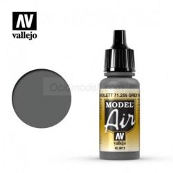 Vallejo - Acrílico Model AirRLM75 Grauviolett, gris violeta RLM75. Bote de 17 ml con cuentagotas. Especialmente para aerografía, Ref: 71.259.