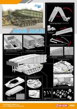 M48 AVLB Armored vehicle Launched Bridge. Escala 1:35. Marca Dragon. Ref: 3606.