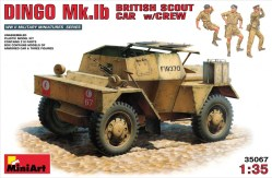 Miniart – DINGO Mk.1b BRITISH SCOUT CAR w/CREW. Escala 1:35. Ref: 35067.