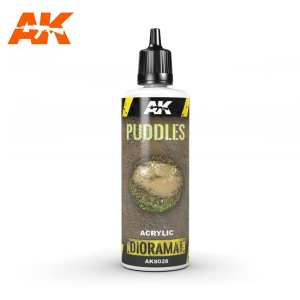 AK Interactive - Producto weathering, Puddles, charcos. Bote de 60 ml. Ref: AK8028.