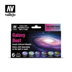 Set color sifhters, galaxy dust, para airbrush. 6 Botes 17 ml. Marca Vallejo. Ref: 77092.