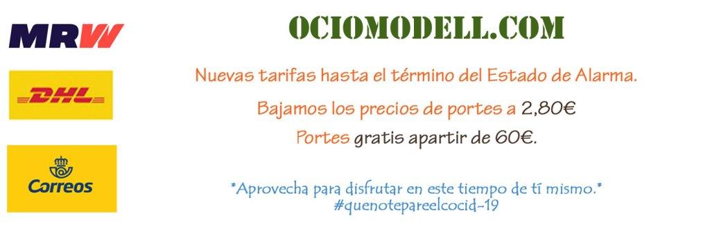 Ociomodell.com - Nuevas tarifas hasta el término del Estado de Alarma.